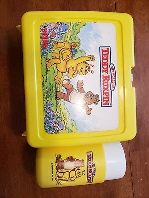 Vintage 1986 Teddy Ruxpin Plastic Lunch Box With Thermos Excellent Condition