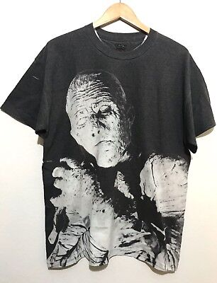 370a0bba2 Boris Karloff as THE MUMMY Mens T-Shirt Size Large L Double Sided Gray