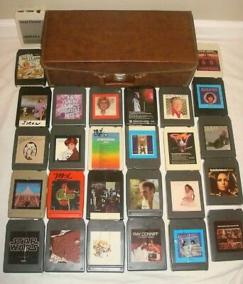 8 TRACK TAPES LOT & CASE Manilow Dolly Star Wars Chicago Streinsand Ronstadt