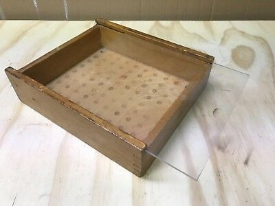 Very well used Levin Collet Box with lid but no tray