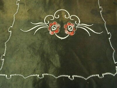 """Vintage Silk embroidered table Runner Measures: 36"""" x 13.5"""""""