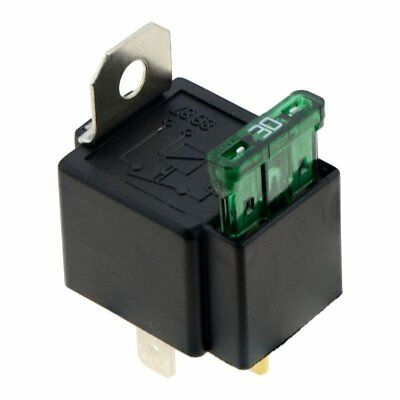 Fused On/Off Automotive Fused Relay 12V 30A 4-Pin Normally Car Bike,black G6E9