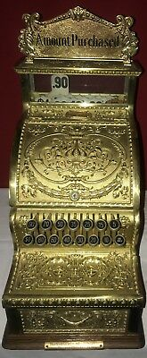 BEAUTIFULLY RESTORED Sm RARE Nat'l. Mdl No. 311 Brass Candy Store Cash Register