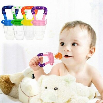 Baby Feeding Dummy Pacifier Fresh Fruits Shake Feeder Food Soother Weaning Teat