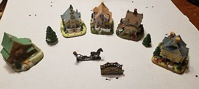 Liberty Falls Americana Collection Buildings & Accessories Excellent Condition
