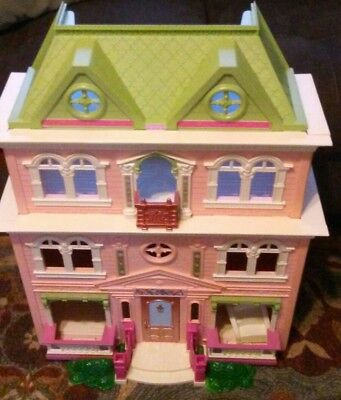 """Fisher Price Loving Family Twin Time  Grand Mansion Dollhouse """"furnished""""  Lot"""