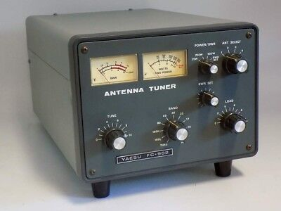 Looks Nearly Unused Yaesu Fc-902 160-10 Including Warc Meter 500W Antenna Tuner