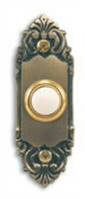 Heathco SL-925-02 3.5 Antique Brass Wired Lighted Doorbell Push Button