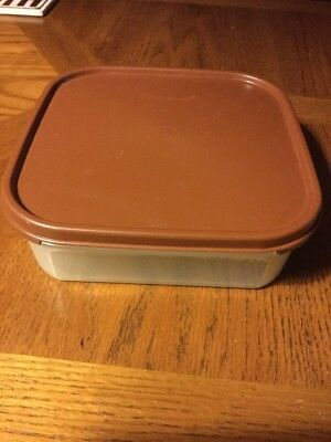 Tupperware Modulare Mates #1619 5 Cup container & Brown Lid Cover Seal #1623 NEW