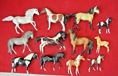 Lot 12 Vintage Retired Breyer Model Horse Mare Foals - Classic & Stablemates