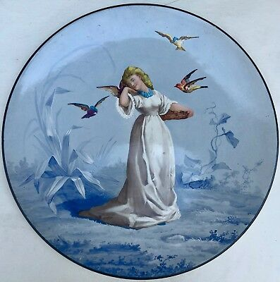 Lovely French Faience Painted Art Nouveau Charger, c. 1890