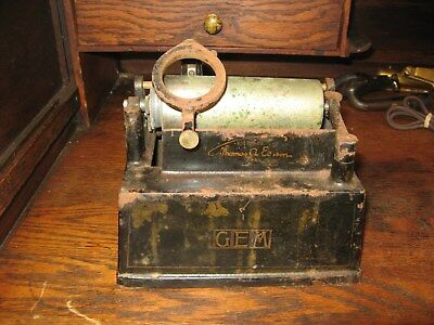 Edison Gem Cylinder Phonograph Case & Carriage Columbia Pathe Busy Bee  # 2