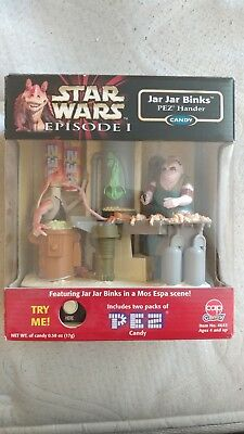Star Wars Episode 1 Jar Jar Binks Pez Hander 1999 Hasbro Candy