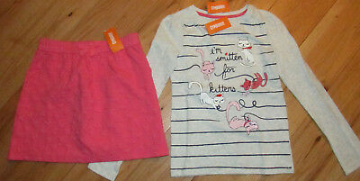 Gymboree Fun At Heart Smitten For Kittens top quilted skirt NWT 12