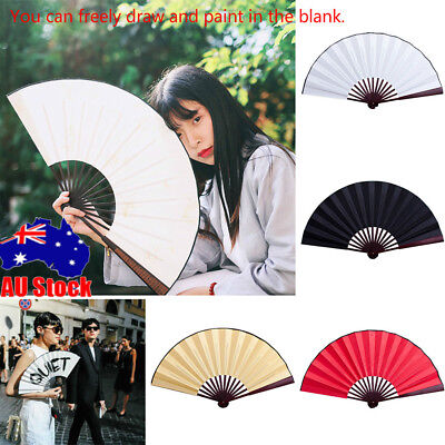 10in Women Silk Vintage Retro Chinese Folding Hand Fan Home Decor Friends Gifts
