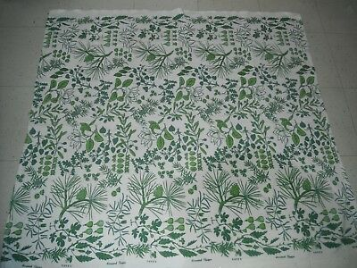 "HARWOOD STEIGER FABRIC PIECE TABLECLOTH SIGNED VINTAGE APPROX 42""x 47"""