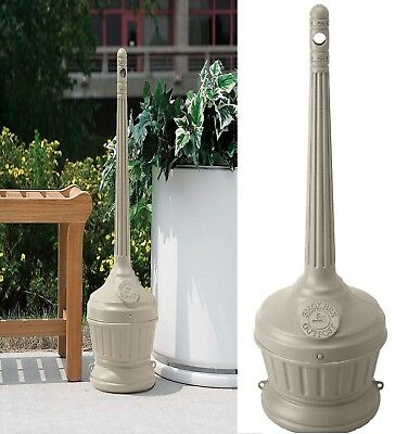 Smokers Sand-Free Receptacle Outpost Patio Cigarette Butt Ashtray Stand - Beige