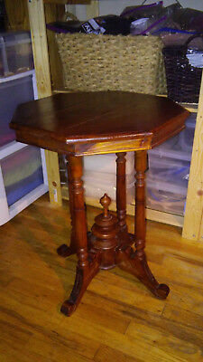 Antique Octagonal Side/End Table Cherry 1900's
