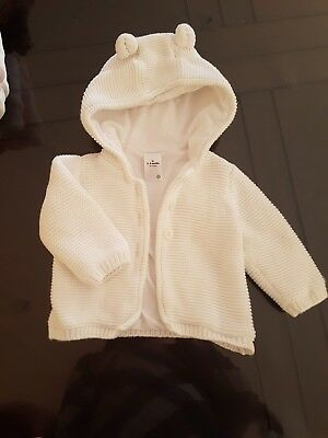 Baby Winter White Jacket/Coat Unisex Size 00 with hood
