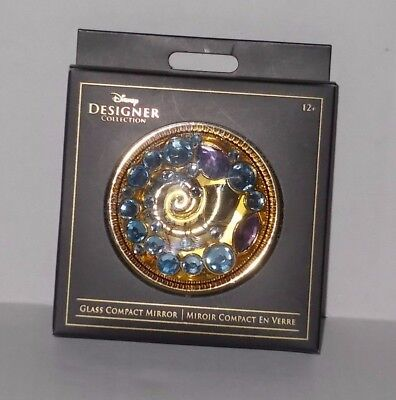Disney The Little Mermaid Glass Compact Mirror Jeweled Shell Disney D23 New