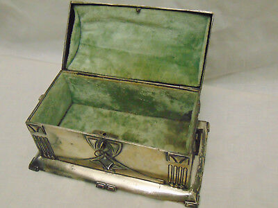 Antique Original 1900 Pewter Art Nouveau WMF Jewelry Box [free shipping]