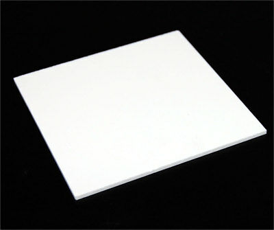 "1/8"" (3mm) Solid White Acrylic Plexiglass Sheet Thick 12""x12"" White Board"