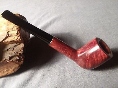 Vintage Kaywoodie Flame Grain Meerschaum #07Billiard Estate Pipe Very Good Shape