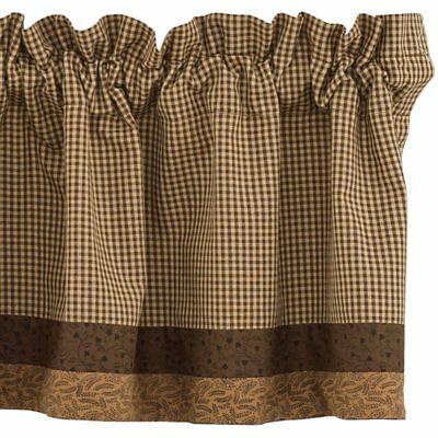 Shades Of Brown Lined Border Valance