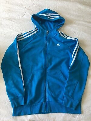 Adidas Hoodie - Blue - Size L (US) or 13-14Y (UK) in excellent condition