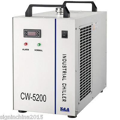 220V 50HZ CW-5200AG Industrial Water Chiller for One 150W CO2 Laser Tube Cooling
