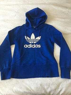 Adidas Blue Unisex Hoodie - size 12 (UK) in excellent condition