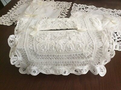 Vintage.... Lace Tissues Box Covers --- 3