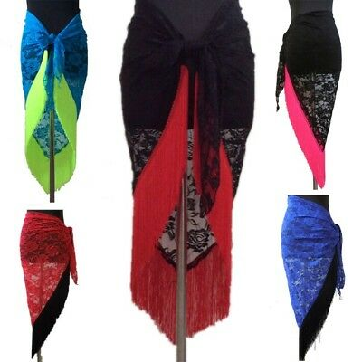 Fashion Triangle Hip Scarf Wrap Belt Skirt Belly Dance Tribal Tassels Lace Dress