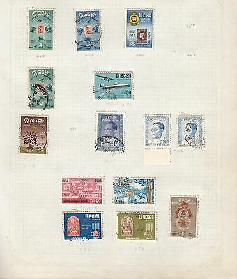 CEYLON on album page stamps removed for shipping (d)