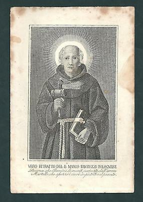 santino - holy card - incisione - engraving sec. IXX:B. MARCO FANTUZZI BOLOGNESE