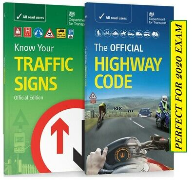 DVSA OFFICIAL HIGHWAY CODE & KNOW YOUR TRAFFIC SIGNS PAPERBACK 2019 Trfc+Hw