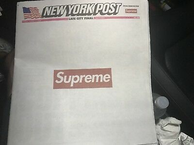 Supreme New York Post Newspaper In Hand Ready To Ship