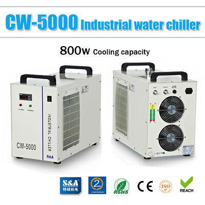 CW-5000AG Industrial Water Chiller for Single 80W/100W CO2 Laser Tube Cooling