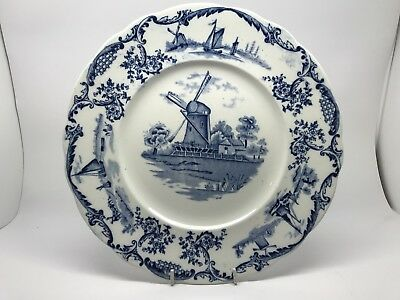 Blue and white Delph plate - 25 Cm