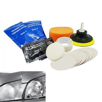 Car Headlight Restoration Kit Restore Clarity & Appearance Lens Polishing Pads