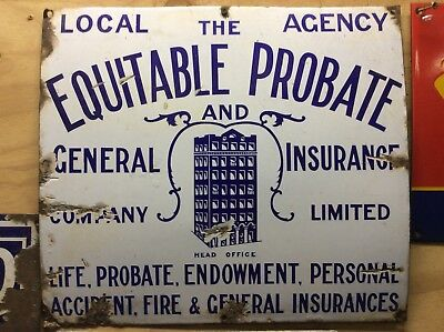 Old Enamel Insurance Sign