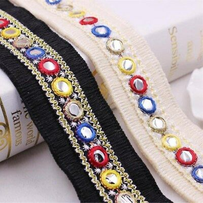 DIY 1 Yards Embroidered mirror fringed lace Shoes hat clothing accessories Lace