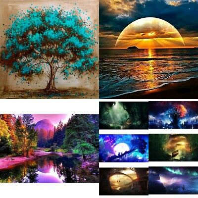 DIY 5D Diamond Painting Landscape Embroidery Cross Craft Stitch Kit Home Decor