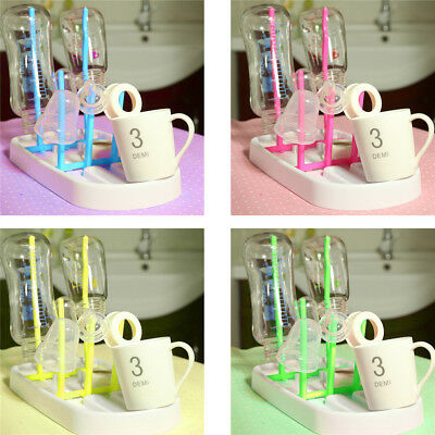 Foldable Baby Bottle Drying Racks Feeding Holders Infant Nipple Shelf Drainer FG