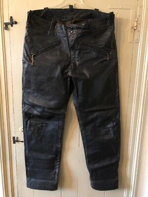 Vintage Leather Motorcycle Riding Pants