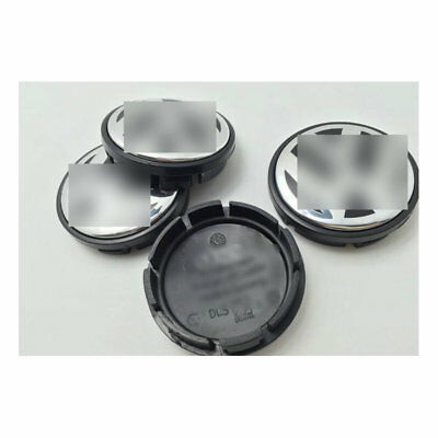 4 PCS 70mm Wheel Center Hub Caps Cover Badge Emblem For Volkswagen VW