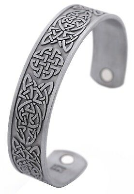Ancient Norse Viking Irish Quaternary Celtic Lucky Knot Health Magnetic Bracelet