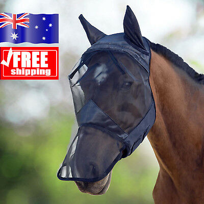 Horse Mask Full Face Horse Fly Mask / Hood / Veil With Nose and Ears - AU!!!