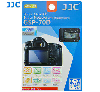 JJC GSP-70D Optical GLASS LCD Screen Protector Film for CANON EOS 70D DSLR _AU