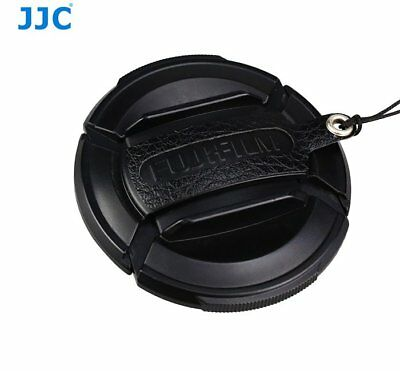 JJC CS-F52 BLACK Leather Lens Cap Keeper for lens cap of Fujifilm FLCP-52 _AU